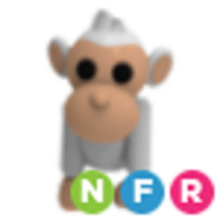 Neon Albino Monkey NFR - Adopt Me