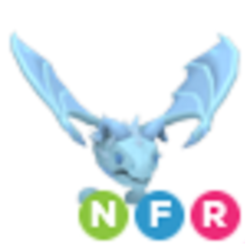 Neon Frost Dragon NFR Adopt Me