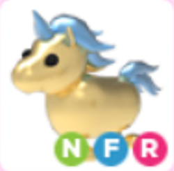 Neon Golden Unicorn NFR Adopt Me
